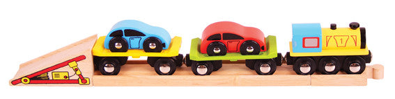 Bigjigs - Car Transporter Train | KidzInc Australia | Online Educational Toy Store