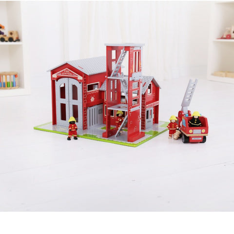 Bigjigs - Fire Station | KidzInc Australia | Online Educational Toy Store