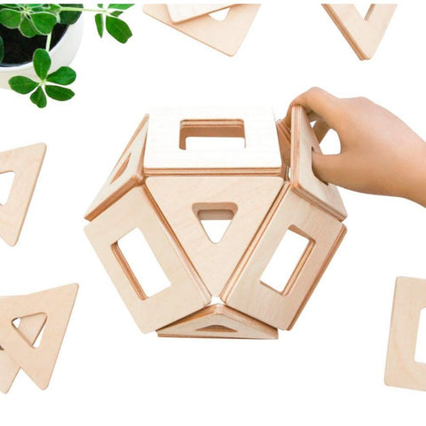 Big Future Toys - Earthtiles Wooden Magnetic Tiles