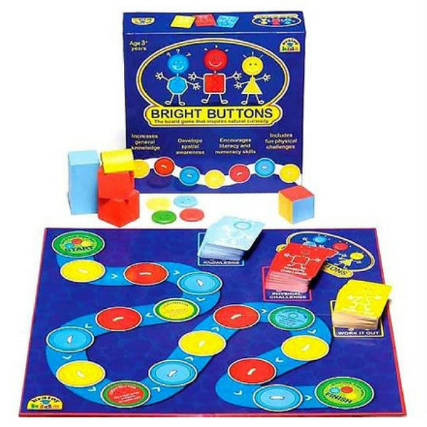 Brainy Kids Bright Buttons Board Game | KidzInc Australia |Online Toys