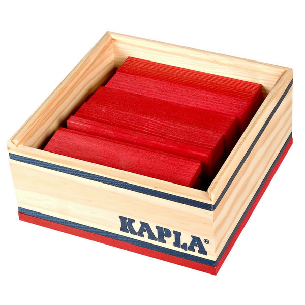 Kapla - Colour Square 40 Piece Wooden Block Set (Assorted Colours) | KidzInc Australia | Online Educational Toy Store