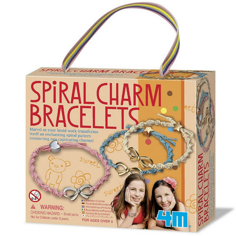 4M - Spiral Charm Bracelets Craft Kit | KidzInc Australia | Online Educational Toy Store