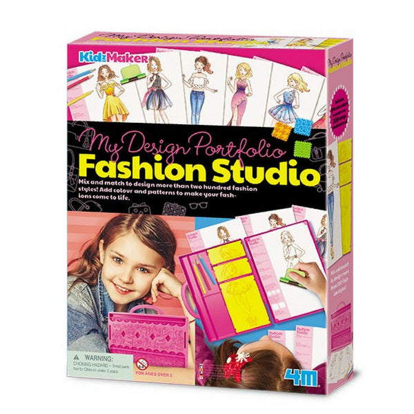 4M KidzMaker My Design Portfolio Fashion Studio Art Set | KidzInc