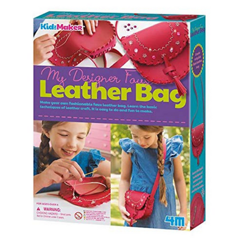 4M KidzMaker My Designer Faux Leather Bag Craft Set | Kidzinc Australia| Online Educational Toys