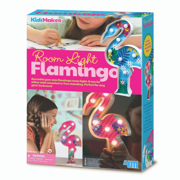 4M KidzMaker Room Lights Flamingo Craft Set | KidzInc Australia | Online Educational Toys