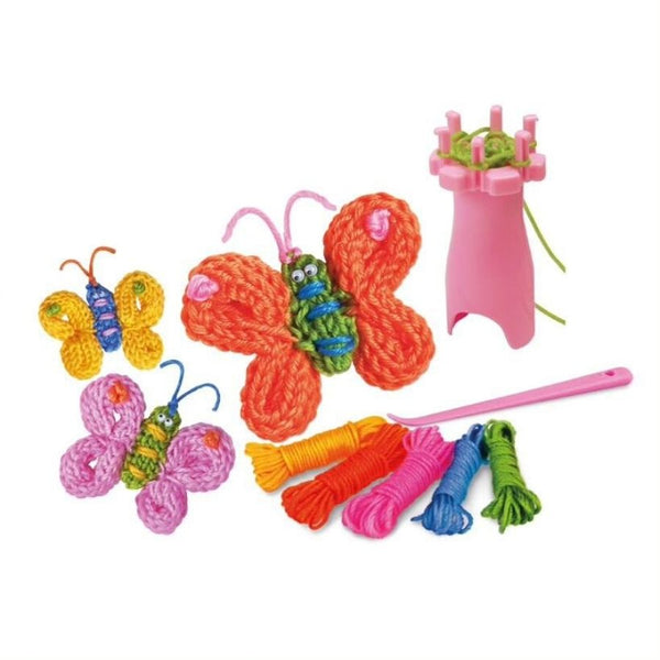 4M Little Craft Kits Spool Knit Butterflies Kit  | KidzInc Australia 3