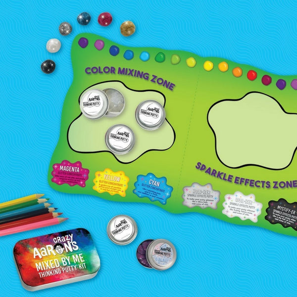 Crazy Aaron's Thinking Putty - Holographic Mixed By Me Kit | KidzInc Australia | Online Educational Toy Store