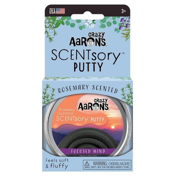 Crazy Aaron's Thinking Putty SCENTsory Mindfulness Focused Mind Rosemary Scent