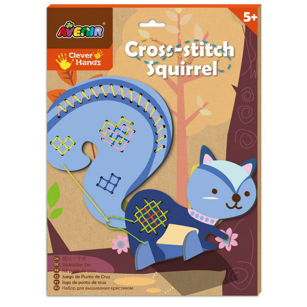 Avenir Cross Stitch Squirrel Design| KidzInc Australia | Online Educational Toys