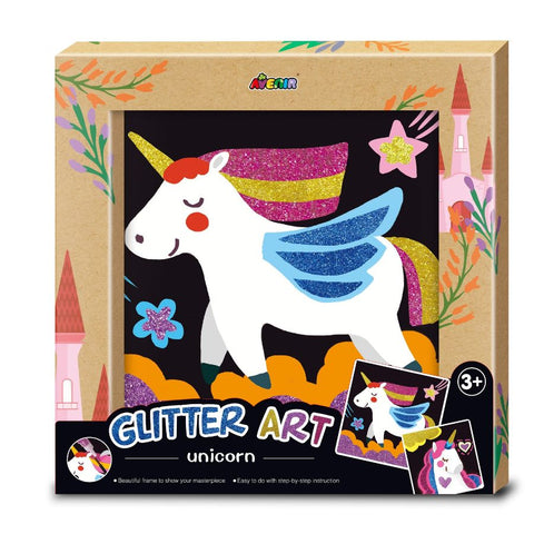 Avenir Glitter Art Unicorn Craft Set | KidzInc Australia | Online Educational Toys