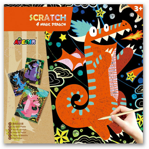 Avenir Scratch Magic: Dragon | KidzInc Australia | Educational Toys