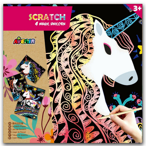 Avenir Scratch Magic Unicorn | KidzInc Australia | Educational Toys