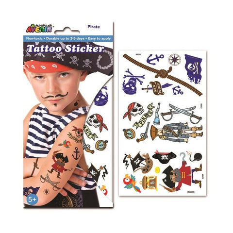 Avenir Tattoo Sticker Set Pirate | KidzInc Australia | Online Toys
