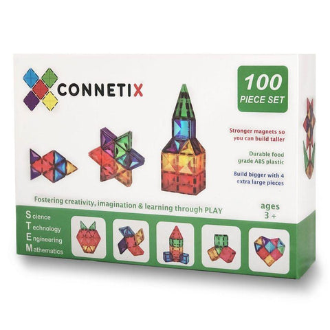 Connetix Tiles 100 Piece Set Magnetic Tiles | KidzInc Australia | Educational Toys