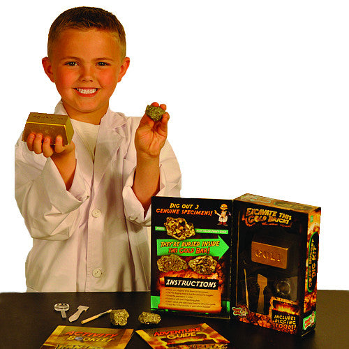 Discover with Dr Cool - Golden Nugget Dig Kit | KidzInc Australia | Online Educational Toy Store