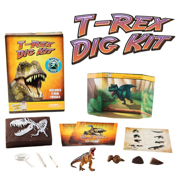 Discover with Dr Cool T-Rex Dig Kit and Puzzle | KidzInc Australia | Online Educational Toy Store