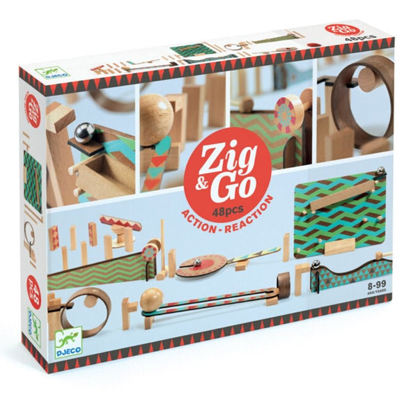 Djeco Zig & Go Action Reaction 48 piece set | Best STEM Toys | KidzInc Australia