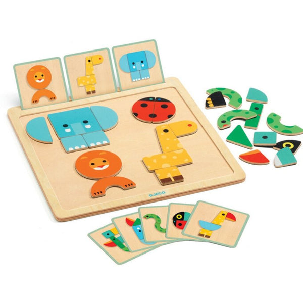 Djeco Geo Basic Wooden Board | KidzInc Australia | Educational Toys
