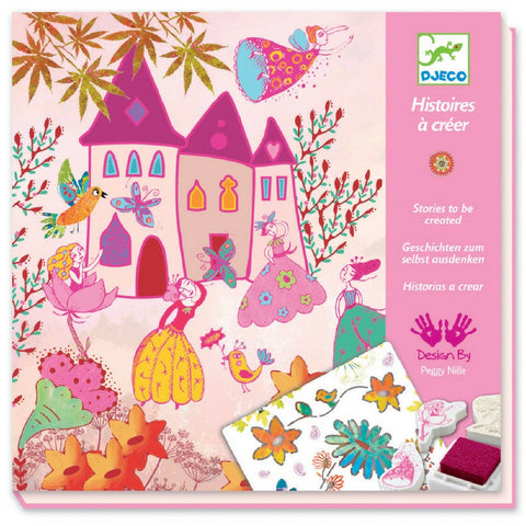 Djeco - Princesses Create a Story Stamping Kit | KidzInc Australia | Online Educational Toy Store