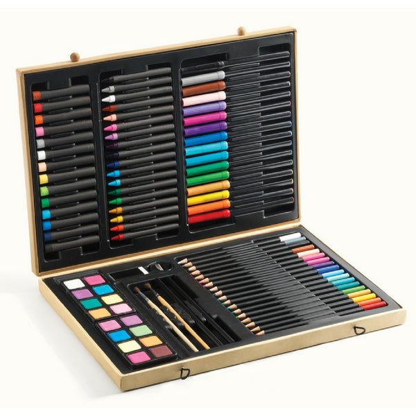 Djeco - Deluxe Artist Set Big Box Of Colours | KidzInc Australia | Online Educational Toy Store