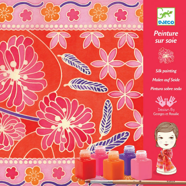 Djeco - Silk Painting Japanese Garden | KidzInc Australia | Online Educational Toy Store