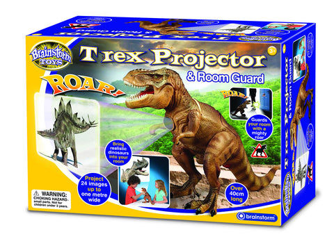 Brainstorm Toys - T Rex Projector and Room Guard | KidzInc Australia | Online Educational Toy Store