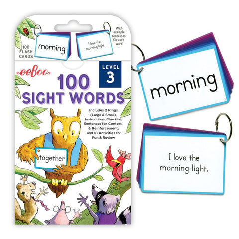 eeBoo Flash Cards 100 Sight Words Level 3 | KidzInc Australia Online