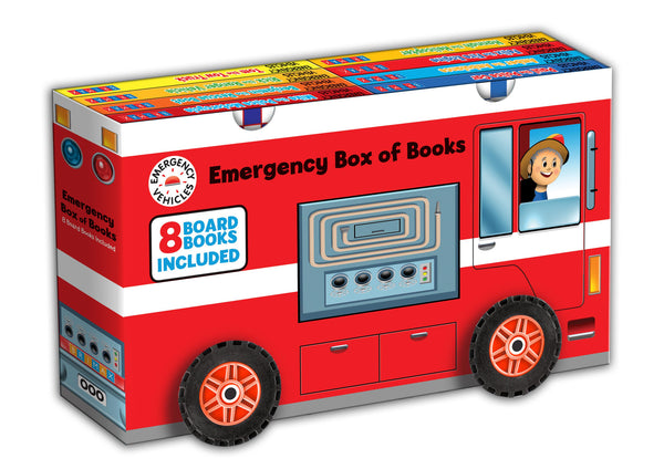 Five Mile Press - Emergency Vehicles Slipcase with Wheels | KidzInc Australia | Online Educational Toy Store