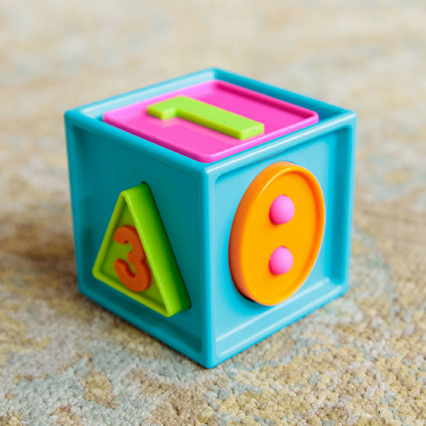 Fat Brain Toys Co Smarty Cube 1-2-3 for Babies and Toddlers | KidzInc Australia | Online Educational Toys