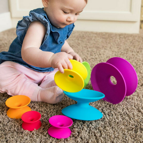 Fat Brain Toy Co Spoolz Stacking Toy for Babies and Toddlers | KidzInc Australia | Online Educational Toys 2