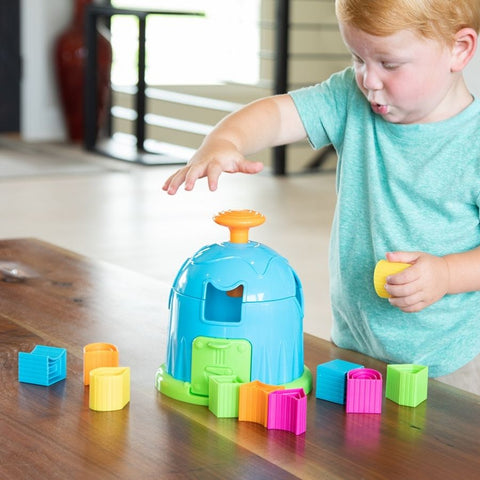 Fat Brain Toys Shape Factory | Shape Sorting Puzzle |KidzInc Australia 2