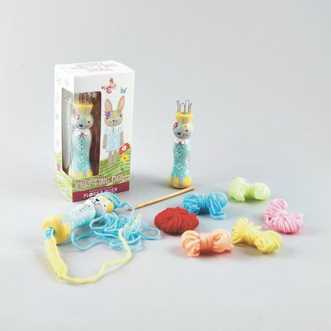 Floss and Rock Knitting Doll Bunny | KidzInc Australia | Online Educational Toys