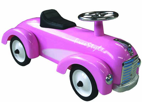 JohnCo - Pink Metal Speedster Ride On Car | KidzInc Australia | Online Educational Toy Store