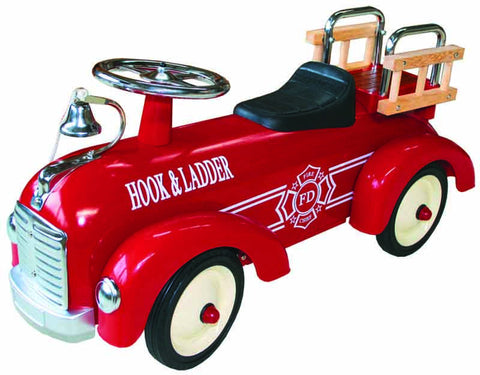 JohnCo - Speedstar Metal Fire Engine Ride On | KidzInc Australia | Online Educational Toy Store