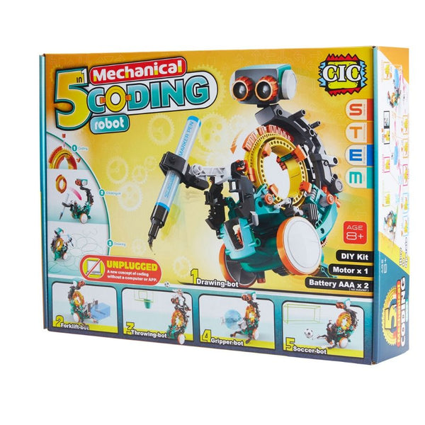 CIC 5 in 1 Mechanical Coding Robot Kit | STEM Toys | KidzInc Australia | Online Educational Toys