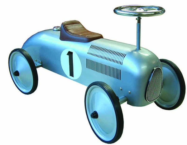 JohnCo - Speedstar Silver Metal Ride On Car | KidzInc Australia | Online Educational Toy Store