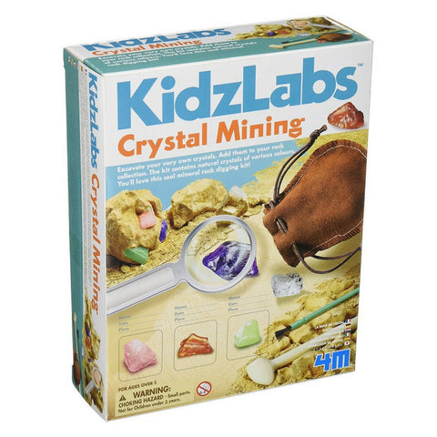 4M - KidzLabs Crystal Mining Kit | KidzInc Australia | Online Educational Toy Store