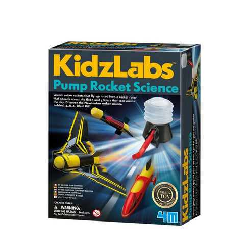 4M- KidzLabs Pump Rocket Science Kit | KidzInc Australia | Online Educational Toy Store