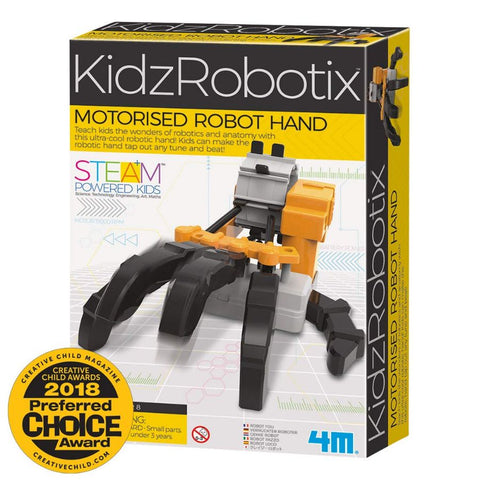 4M KidzRobotix Motorised Robot Hand Science Kit | KidzInc Australia