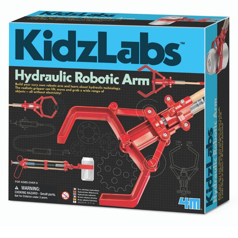 4M KidzLabs Hydraulic Robotic Arm | STEM Kit | KidzInc Australia | Online Educational Toys