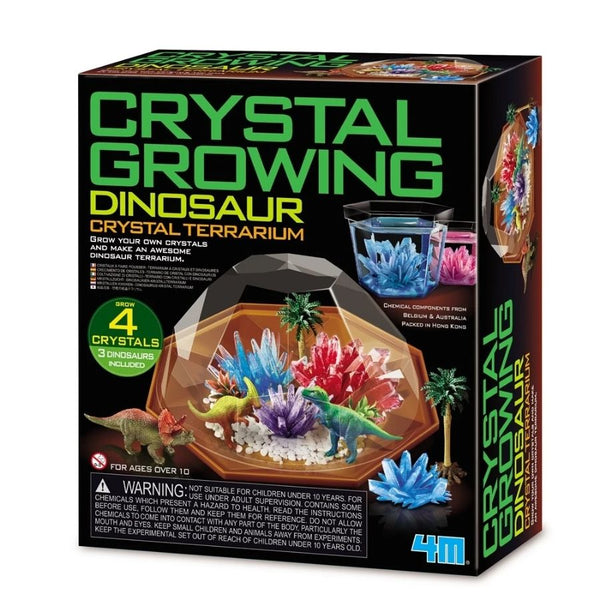 4M Crystal Growing Dinosaur Crystal Terrarium | Science Kits | KidzInc Australia