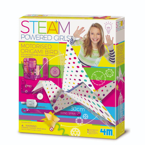 4M STEAM Powered Girls Motorised Origami Bird | KidzInc Australia