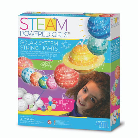4M STEAM Powered Girls Solar System String Lights | KidzInc Australia
