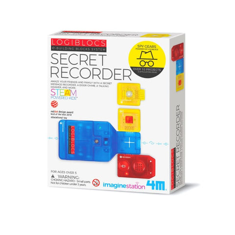 4M Logiblocs Ebuilding Blocks System Secret Recorder Kids Science Kit