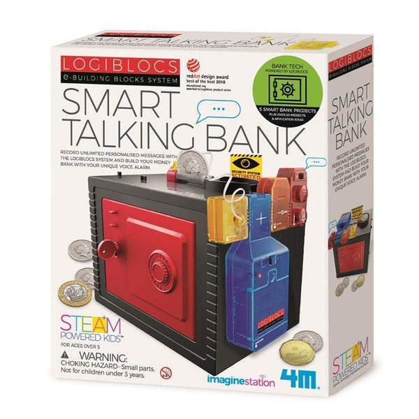 4M LogiBlocs Smart Talking Bank Science STEM Kit | KidzInc Australia