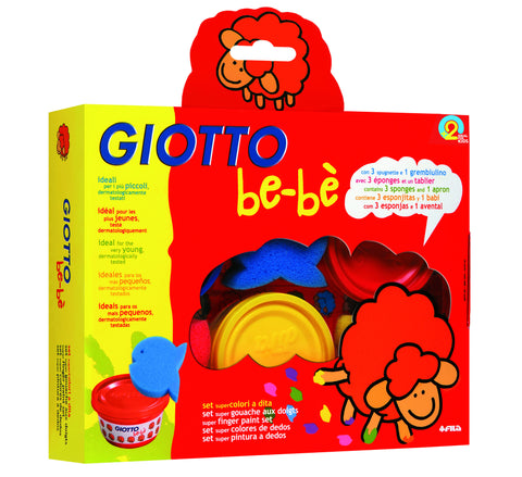 Giotto - Be-Be Super Finger Paint Set | KidzInc Australia | Online Educational Toy Store