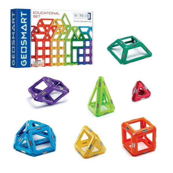 GeoSmart - Educational Set of 100 Pieces | KidzInc Australia | Online Educational Toy Store