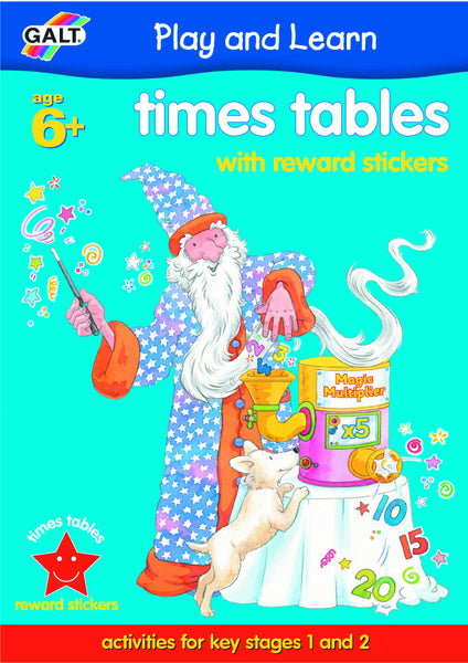 Galt - Times Tables Sticker Reward Book | KidzInc Australia | Online Educational Toy Store
