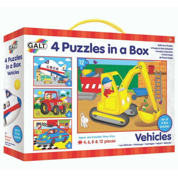 Galt - Four Puzzles In A Box: Vehicles | KidzInc Australia | Online Educational Toy Store