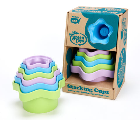 Green Toys - Stacking Cups | KidzInc Australia | Online Educational Toy Store